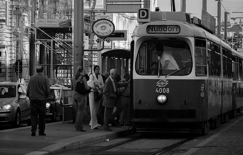 Tram boarding